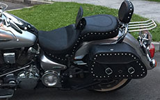 Leonardo's 03 Yamaha Road Star Silverado w/ Pinnacle Studded Saddlebags