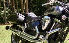 Miff's Yamaha Road Star w/ Warrior Motorcycle Saddlebags