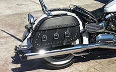 Darrell's '04 Yamaha Road Star Midnight w/ Trianon Studded Motorcycle Saddlebags