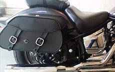 Rachel's 05 Yamaha V Star Custom w/ Pinnacle Motorcycle Saddlebags