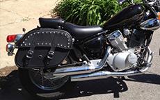 Michael's '12 Yamaha V Star 250 w/ Charger Studded Motorcycle Saddlebags