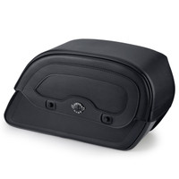 Harley Dyna Street Bob Universal Warrior Slanted Large Motorcycle Saddlebags