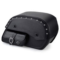 Harley Dyna Street Bob Universal SS Side Pocket Studded Large Motorcycle Saddlebags Main Image