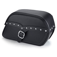 Harley Dyna Street Bob Universal SS Slanted Studded Medium Motorcycle Saddlebags Main Image
