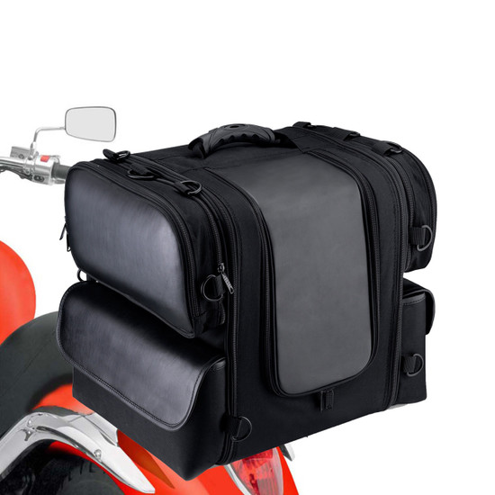 Viking Phat Motorcycle Sissy bar bag 3,045 Cubic inches  Back on Bike View