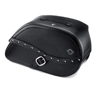 Honda VTX 1300 C Armor Shock Cutout Studded Motorcycle Saddlebags