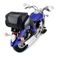 Viking Explorer Series 3,741 Cubic Inches Motorcycle Tail Bag  Back on Bike View