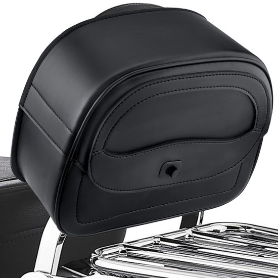 Viking Warrior Compact Motorcycle Sissy Bar Bag Back View