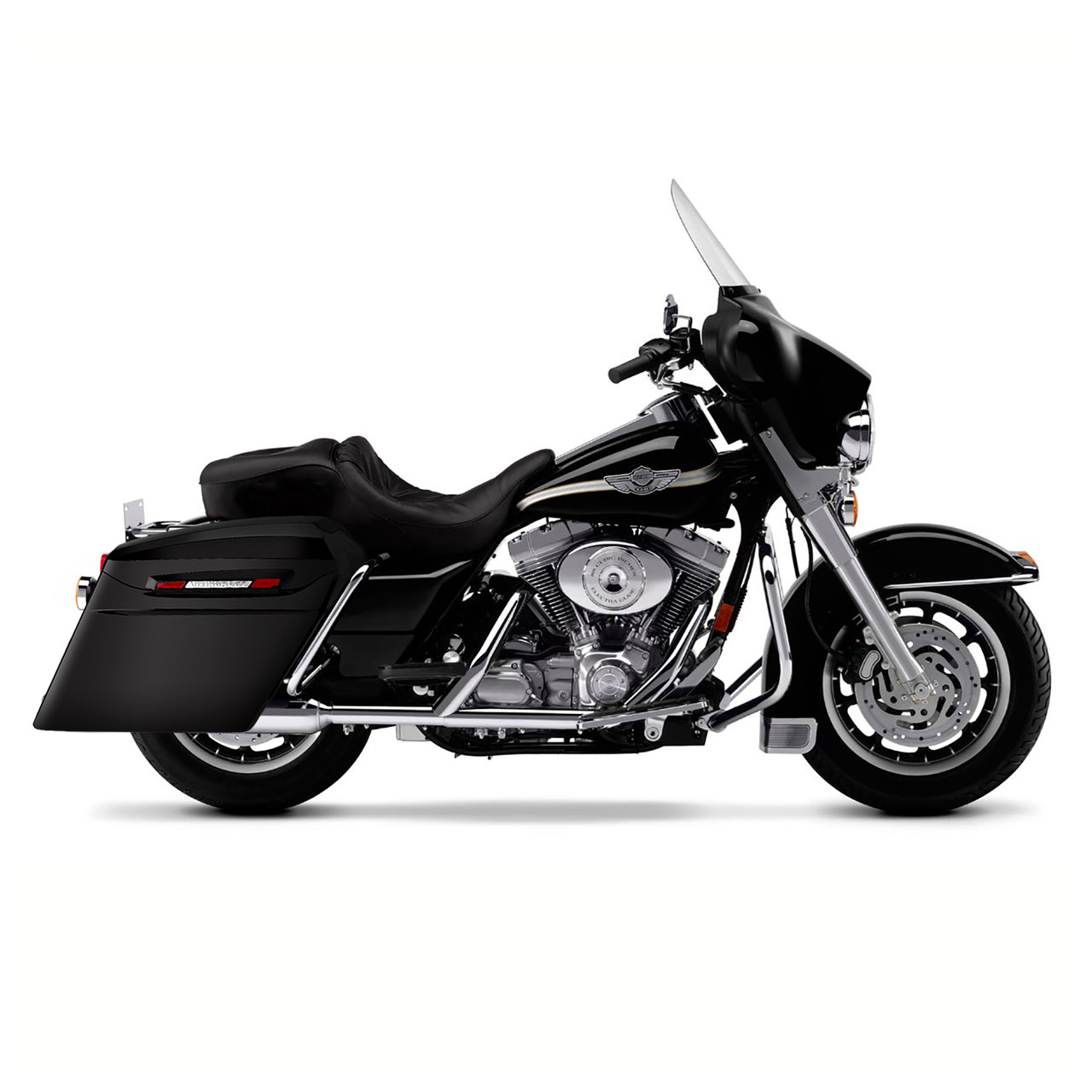 Harley Electra Glide Touring Bagger Extended Stretched Saddlebags