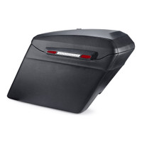 Touring Bagger Leather Covered Stretched Saddlebags