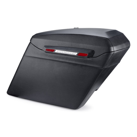 Touring Bagger Leather Covered Stretched Saddlebags Main Image