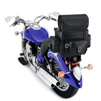 Indian Nomad Revival Series Large Motorcycle Sissy Bar Bag  On Bike Top View