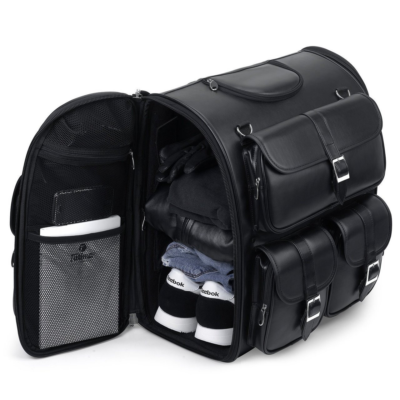 Triumph Viking Classic Leather Motorcycle Sissy Bar Bag - Vikingbags