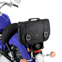 Harley Viking Messenger Bag on Bike View