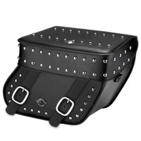Triumph Thunderbird Concord Large Studded Leather Motorcycle Saddlebags Main Image