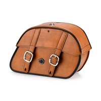 Indian Chief Standard Charger Brown Leather Motorcycle Saddlebags