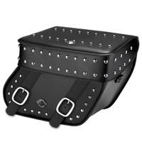 Yamaha V Star 1300 Classic Concord Studded Leather Saddlebags Main Image