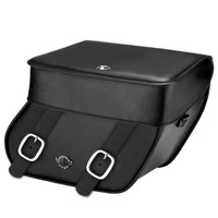 Kawasaki Vulcan S Cafe Concord Hard Leather Motorcycle Saddlebags Main Image