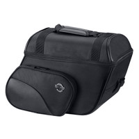 Cruise Slanted Large Motorcycle Saddlebags For Harley Softail Deluxe FLSTC Main View