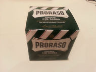 Proraso pre shave cream 'green' 100ml pot with menthol and eucalyptus