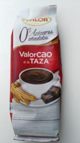 Spanish Valor Cao Hot Chocolate Powder Sugar Free 200G