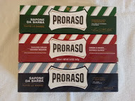 Proraso shaving soap cream 3 x 150ml tubes green, red, blue