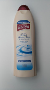 LA TOJA SHOWER GEL WITH MINERAL SALTS 650ML  FROM SPAIN.