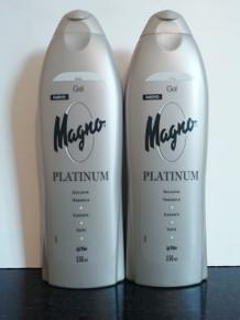 Spanish Shower/Bath Gels x 2 bottles Magno Platinum. 550ml