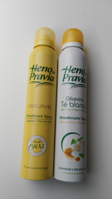Heno de Pravia Glicerina and Original deodorant spray  x 2 Spanish