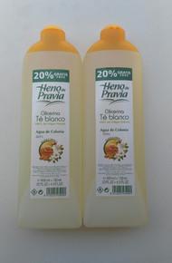 2 x HENO de PRAVIA GLICERINA, AGUA DE COLONIA, FAMILY COLOGNE 650ml (20% extra free)  SPAIN