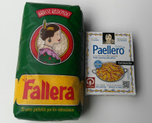 Authentic Spanish Rice Perfect for Paella 1 kg plus Paellero Paella Mix (5 sachets)