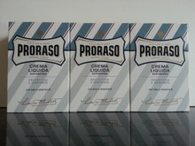 Proraso Aftershave Balm/Crema Liquida 100ml Blue  X3