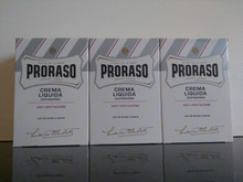 Proraso Aftershave Balm/Crema Liquida 100ml White  X3