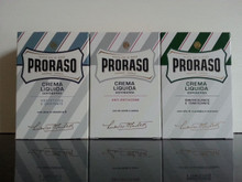 Proraso Aftershave Balm/Crema Liquida 100ml x3 blue/white/green