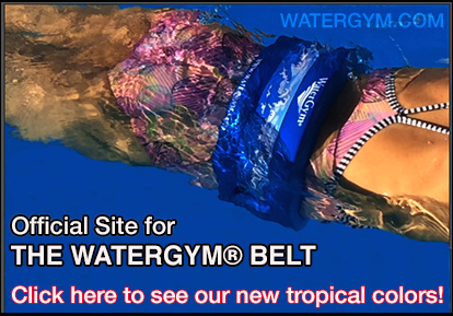 water aerobics exercise float belt by watergym
