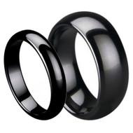 His and Her & Ceramic Ring Set