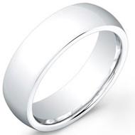 Cobalt Chrome Wedding Band Ring High Polished Domed finished