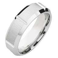 Cobalt Chrome Wedding Band Ring Multiple Grooves center