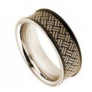 Cobalt Chrome Wedding Band Rings matte finish
