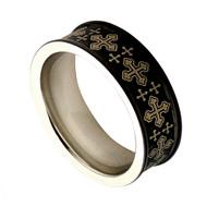 Cobalt Chrome Wedding Band Pattern Rings