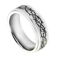 Cobalt Chrome Wedding Band Tribal Ring