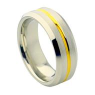 Cobalt Chrome Wedding Band Ring Gold