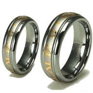 """His & hers Tungsten Set """"18k Gold"""""""