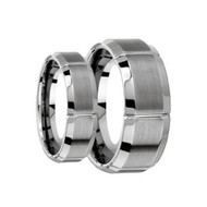 His & Hers Tungsten Scratch Resistant Ring's Set
