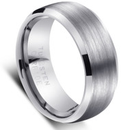"TUNGSTEN RING ""MATTE & HIGH POLISH"