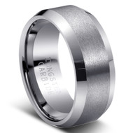"TUNGSTEN RING "" MATTE & HIGH POLISH"""