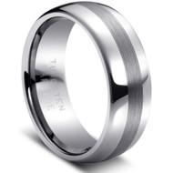 Tungsten Carbide Brushed Ring