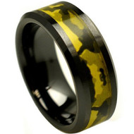 Black Ceramic High Polish Finish Military Green Camouflage