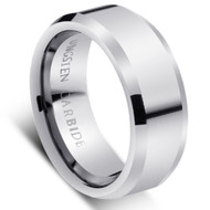 """Tungsten Ring """" High Polished """"comfort fit"""