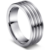 """Tungsten Ring """" High Polished """" classic wide comfort fit"""